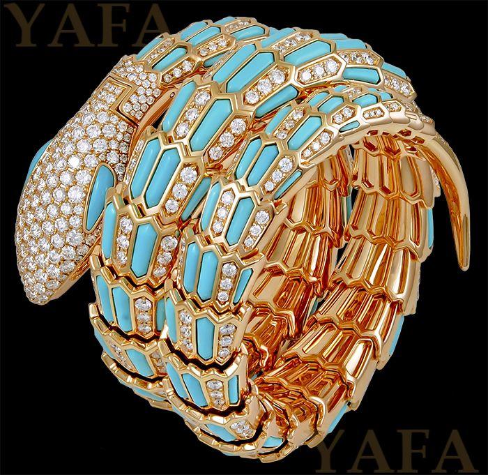 BULGARI Diamond and Turquoise Serpenti Secret Watch