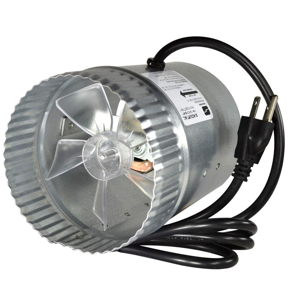 Inductor 5 In Corded In Line Duct Fan Db205c The Home Depot In 2020 Forced Air Heating Duct Fan