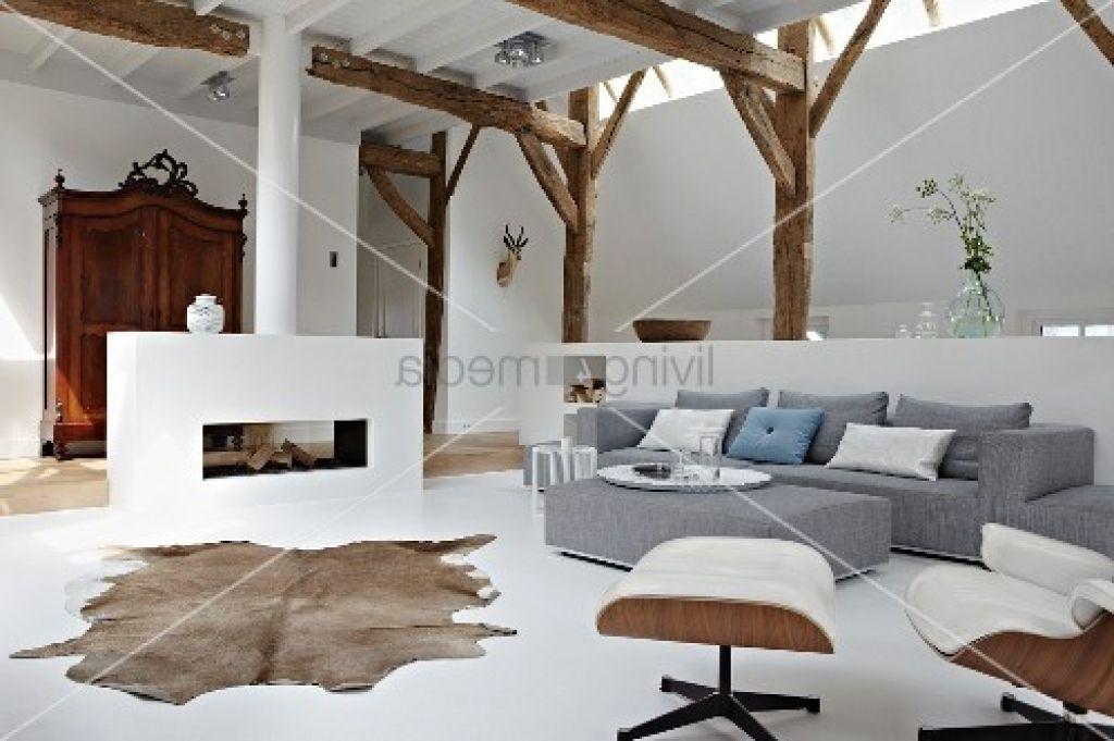 wohnzimmer modern und antik offener wohnraum im stilmix zwischen ...