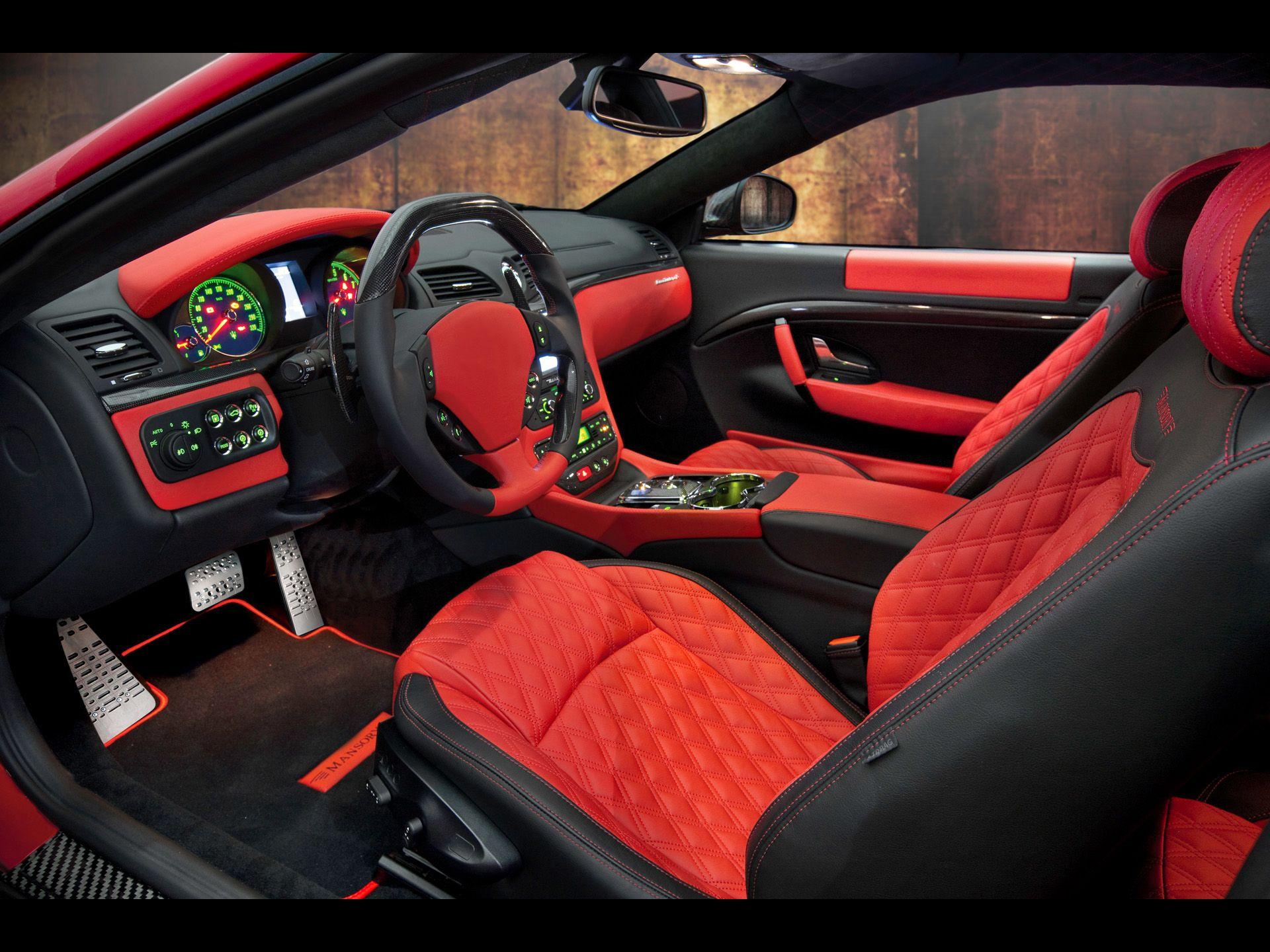 2011 mansory maserati granturismo interior cars - Maserati granturismo red interior ...
