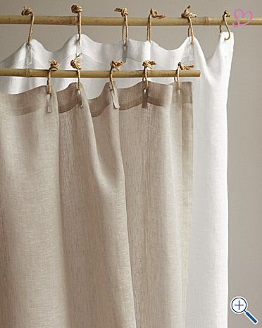 Eileen Fisher Sheer Linen Shower Curtain Since I Haven T Been Able To Find Curtains I Like This One Is Curtains Fabric Shower Curtains How To Make Curtains