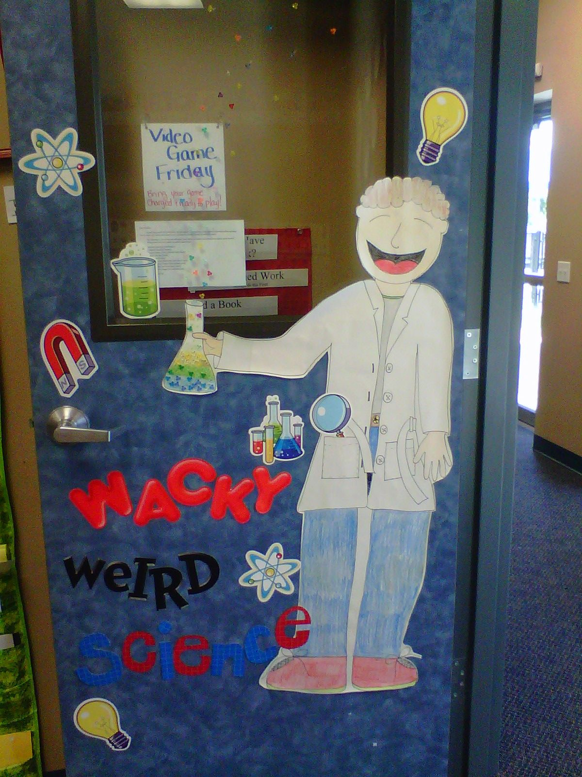 Science Theme Door Decoration | Science themes, Classroom ...