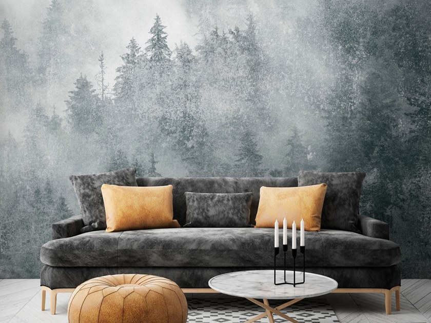 Download The Catalogue And Request Prices Of Yukonic By Tecnografica Landscape Nonwoven Wallpaper Strip Landscapes Collection Wood Cover Wallpaper Landscape