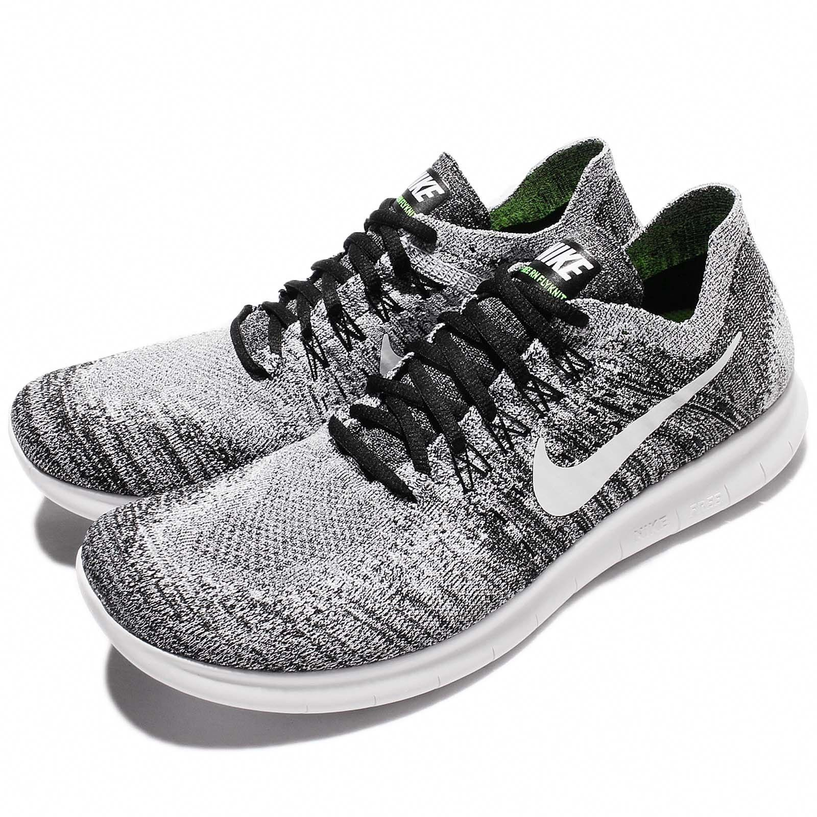 4f3e9f465aca Nike Free RN Flyknit 2017 White Black Men Running Shoes Sneakers 880843-003   RunningShoes