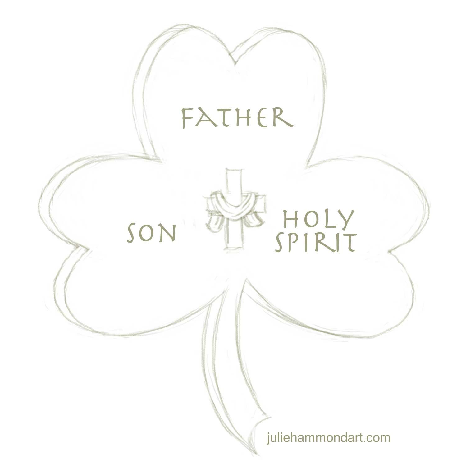 Trinity Shamrock Coloring page | school ideas | Pinterest | Bible ...