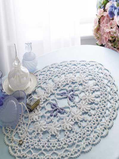 Free Floral Crochet Doily Patterns | Pinterest | Deckchen, Läufer ...