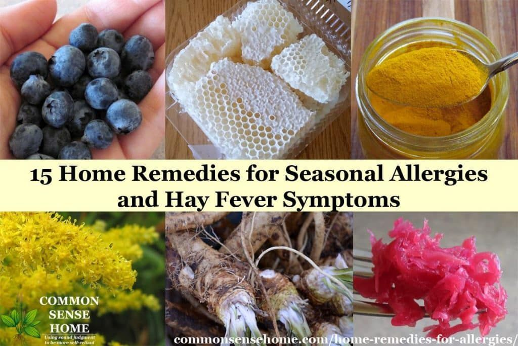 Home remedies for seasonal allergies and tips to help hay