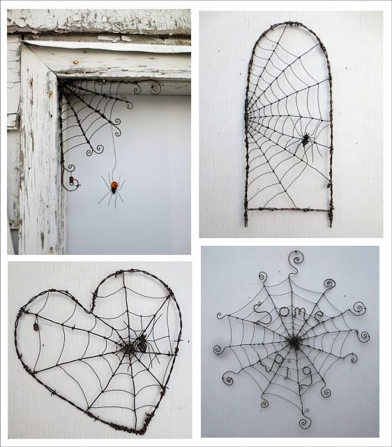 It\u0027s Written on the Wall (Halloween Decor) Spider Webs out of - halloween decorations spider