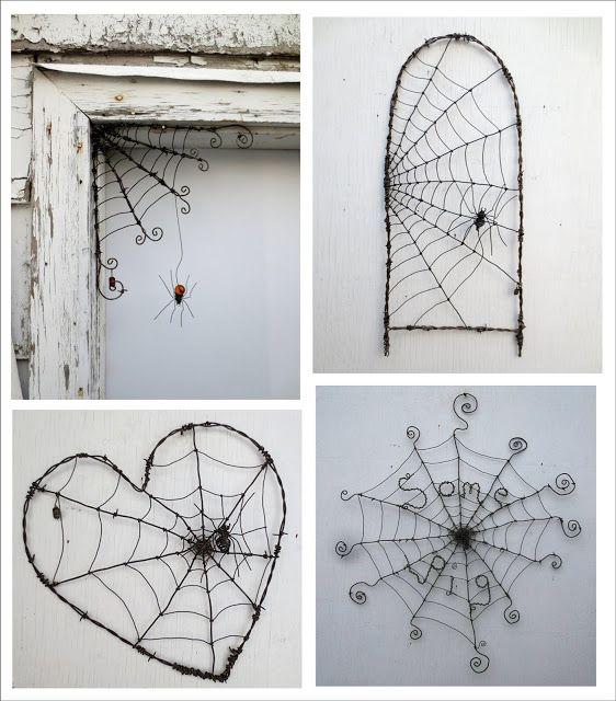 It\u0027s Written on the Wall (Halloween Decor) Spider Webs out of - spider web halloween decoration
