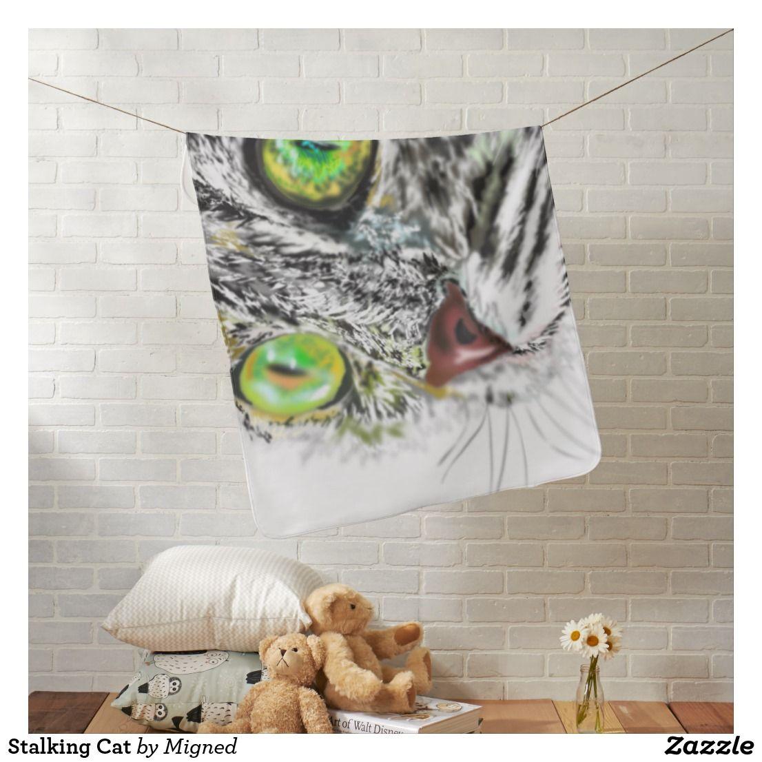 Stalking Cat Baby Blanket Cat spray, Baby