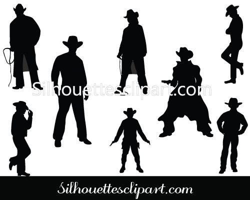 Wild West Cowboy Silhouette Vector Graphics Silhouette Clip Art Silhouette Clip Art Silhouette Vector Vector Graphics