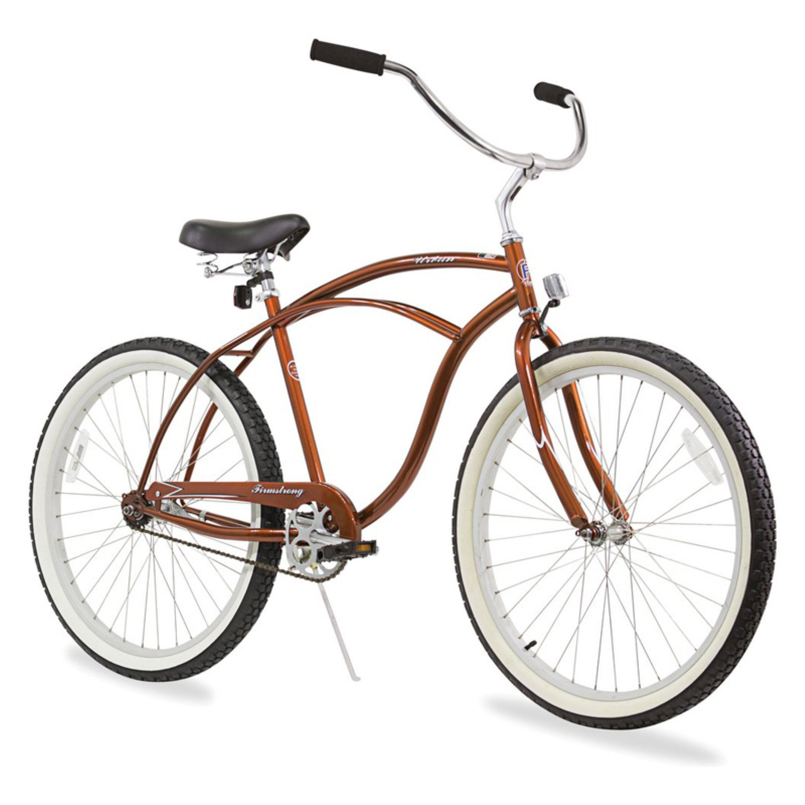 112f9929fbc Firmstrong Urban Man 26 in. Single Speed Beach Cruiser Bicycle Gloss Brown