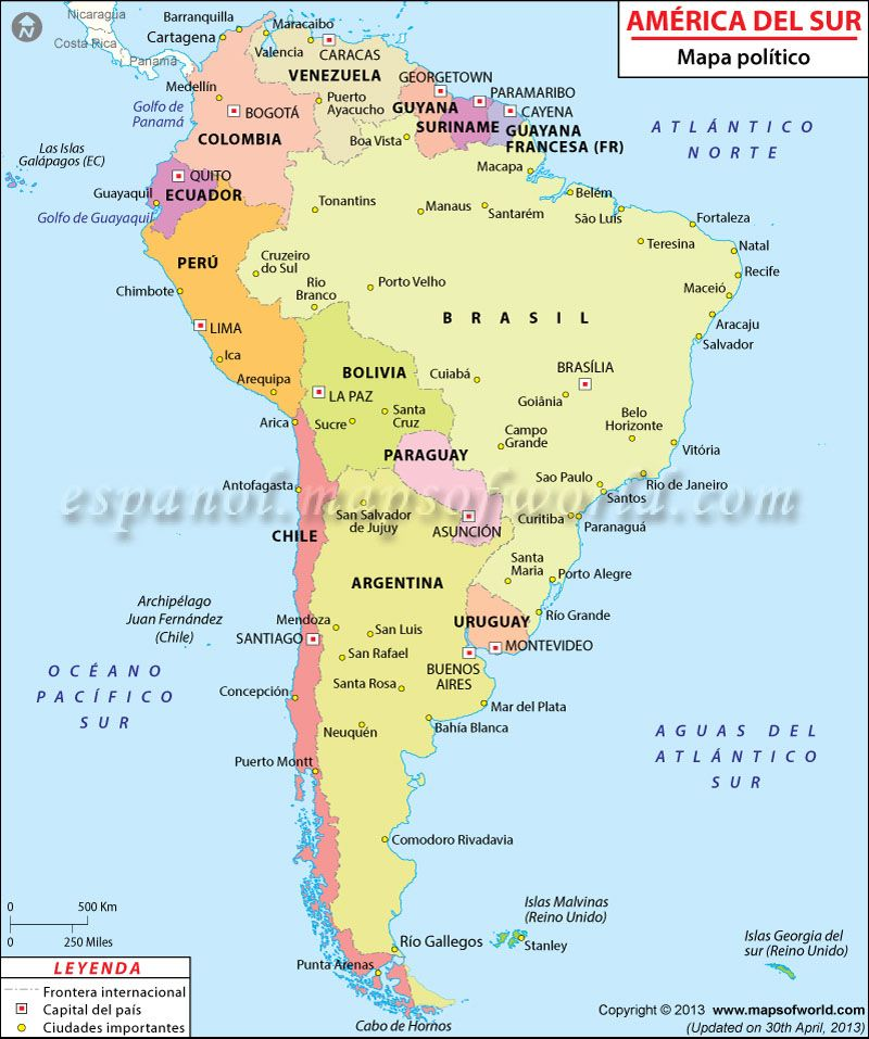 Mapa De America Del Sur Mapa De America Del Sur Mapa De America