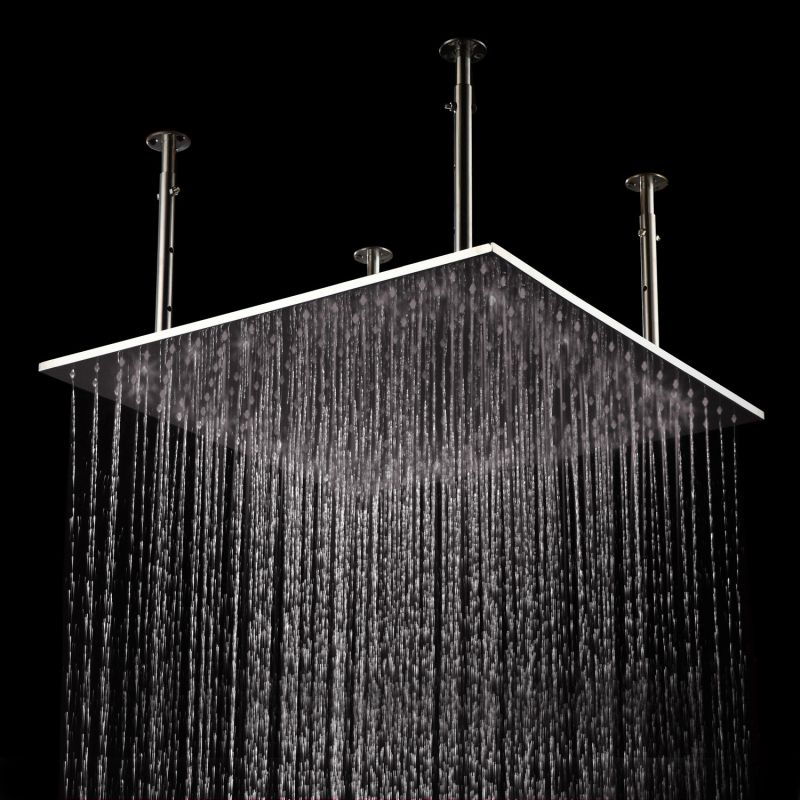 Stainless Steel Square Drench Fixed Bathroom Shower Head 300mm