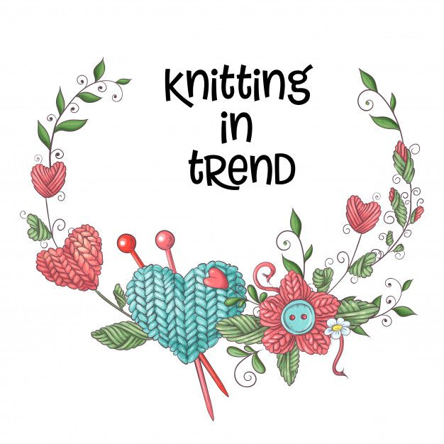 Simple illustration with knitting needle  Download thousands