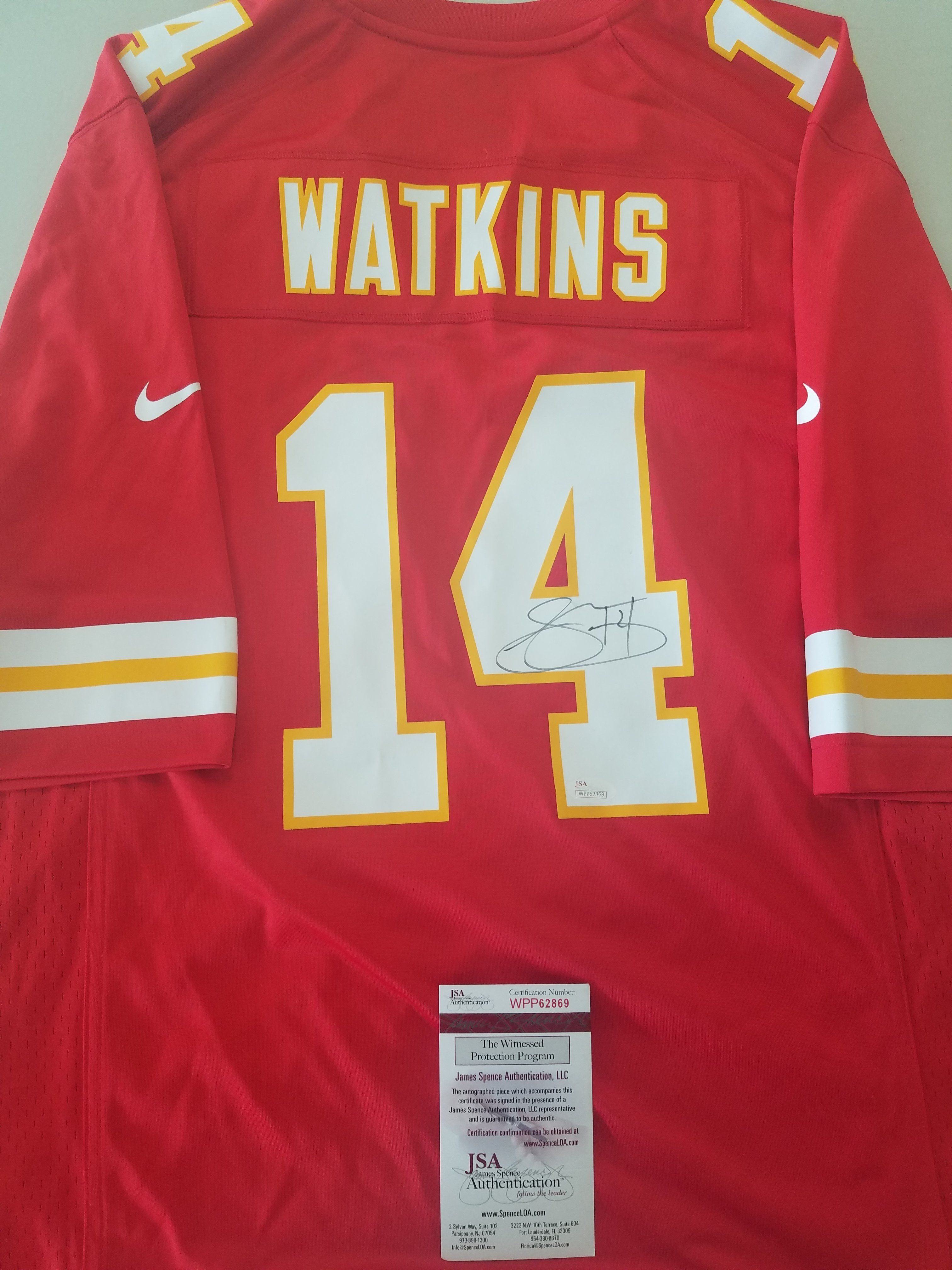 100% authentic c3506 4b6bd Kansas City Chiefs Signed Autographed Sammy Watkins Nike ...