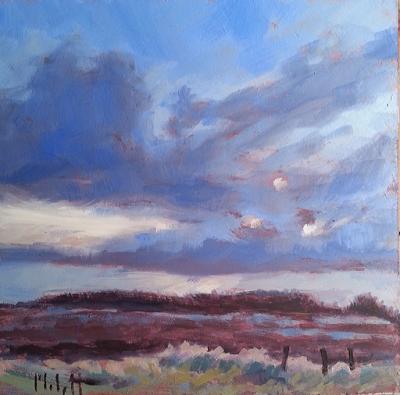 Heidi Malott Original Paintings Spring Skies Landscape Oil Painting Original Art Oil Painting Landscape Art Painting