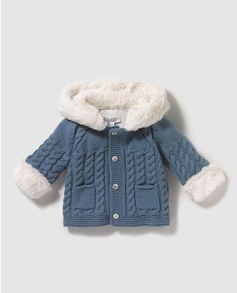 Chaqueta de bebé niño Dulces en tricot azul 49 b7f2bcb960c