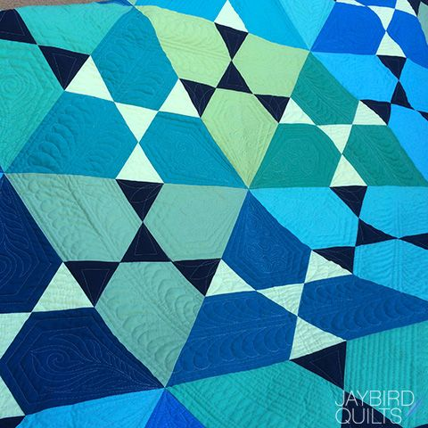 Jaybird Quilts Lotus Quilt, made with the HexNMore ruler ... : quilt shops in ri - Adamdwight.com