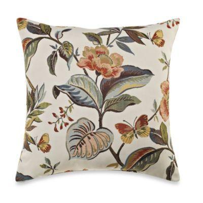 Guana Floral Rust Multi 16 Inch Toss Pillow