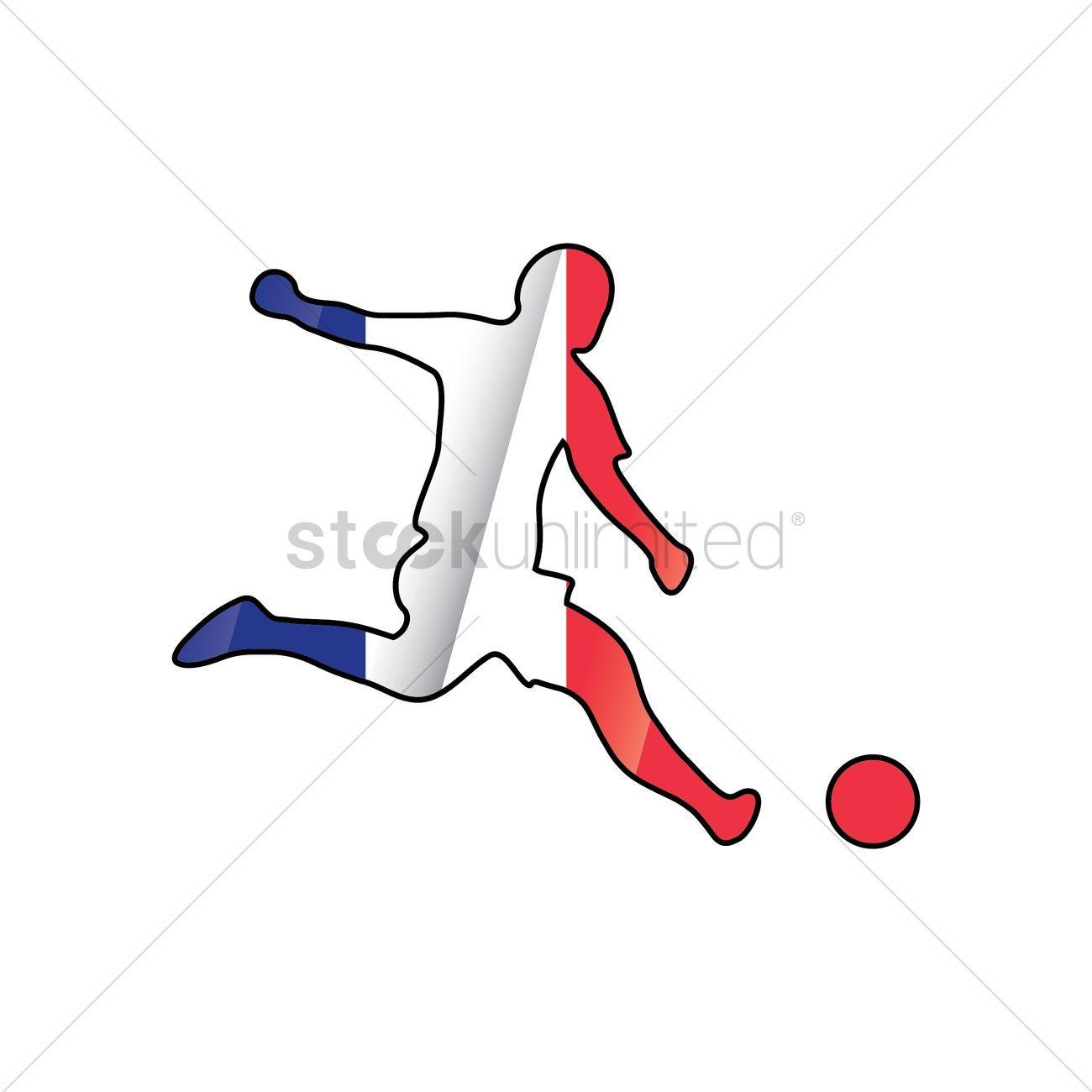 Soccer Player Dribbling Ball Vectors Stock Clipart Ad Dribbling Player Soccer Ball Clipart Affiliate Digital Illustration Graphic Character