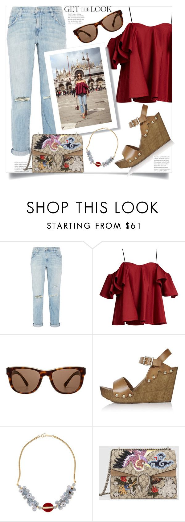 """Blogger Style - Get Coohuco's Look"" by hattie4palmerstone ❤ liked on Polyvore featuring Current/Elliott, Anna October, Dolce&Gabbana, Topshop, Isabel Marant, Gucci and BloggerStyle"