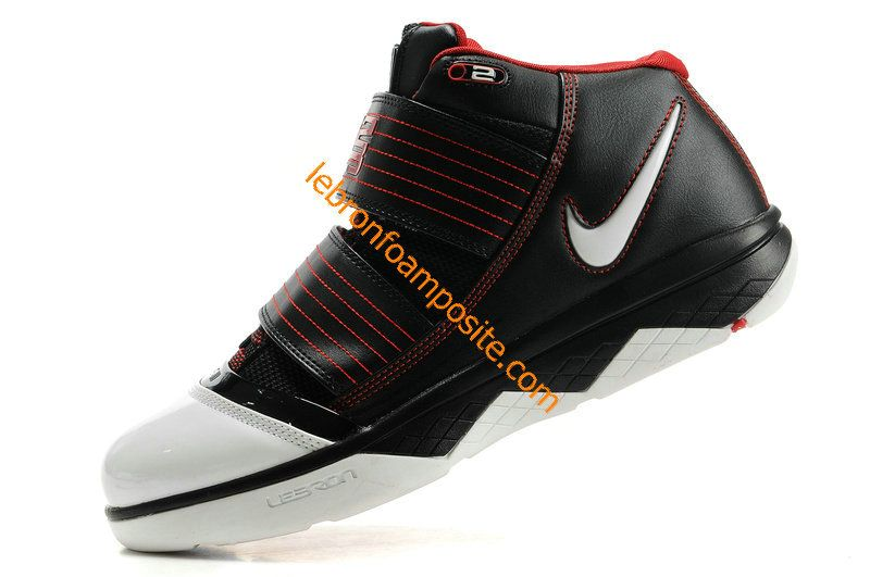 8e06a57a21c Nike Zoom Lebron Soldier III 3 Black White Siren Red 354815 011 ...