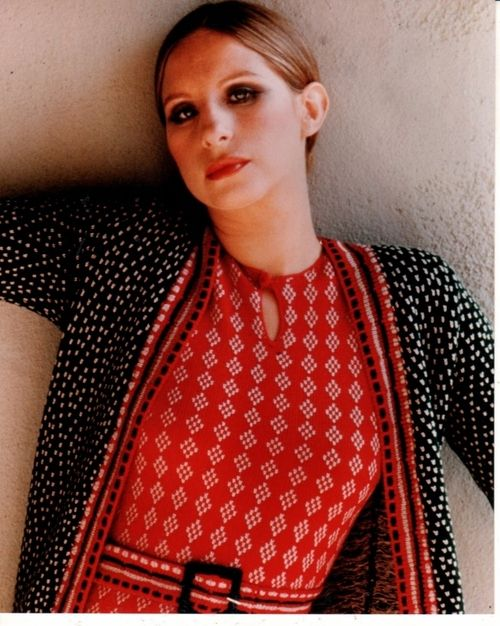 Barbara Streisand clashing prints in the 70's