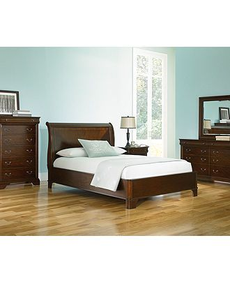 Champagne King Bed Beds Headboards Furniture Macy S