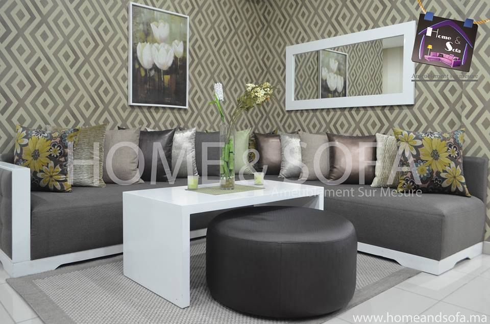 Salon moderne marocain gris de Home and Sofa Home decor
