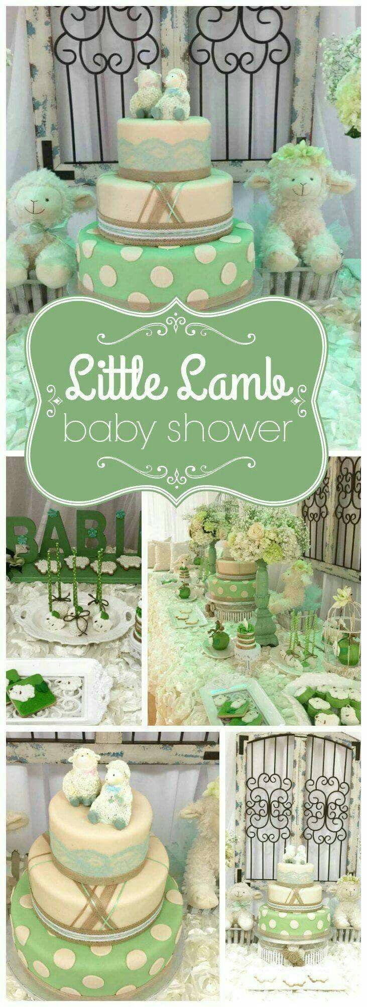 Baby bedding lamb theme sweet pea lamb baby bedding and nursery - Baby Shower Decorations Vintage Baby Showerslamb