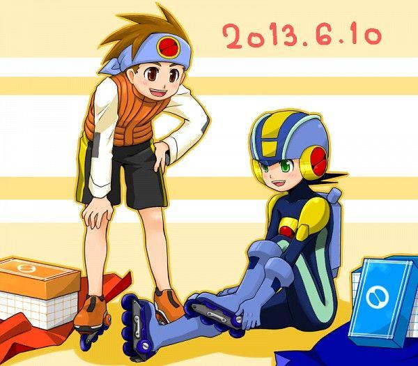 Lan Hikari And Megaman Exe Megaman Battle Nertwork Mega Man