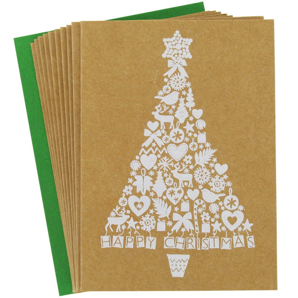 Small Charity White Tree Cards