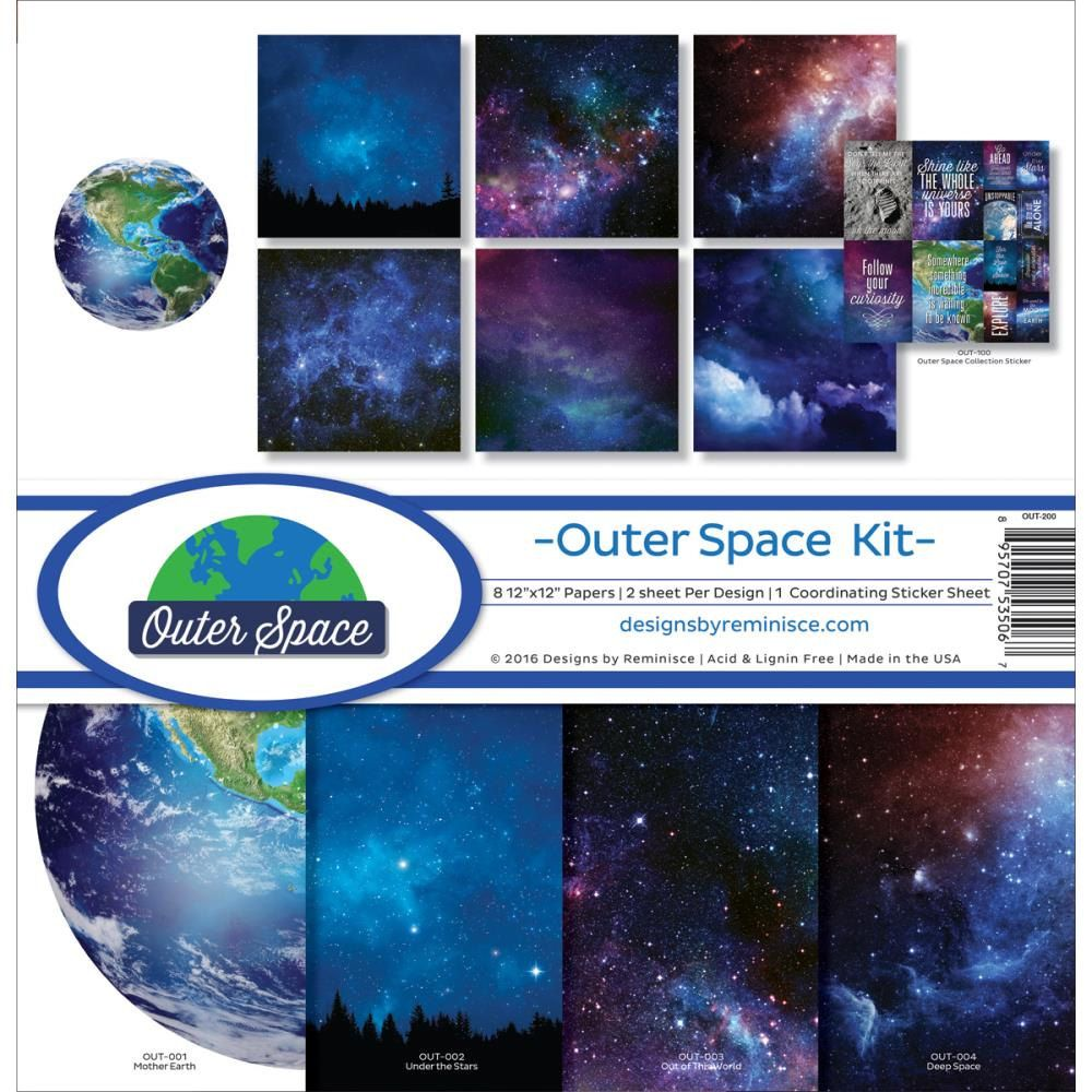 Scrapbook paper etsy - Reminisce 12x12 Scrapbook Paper Kit Outer Space Stars Celetial By Pnwcrafts On Etsy