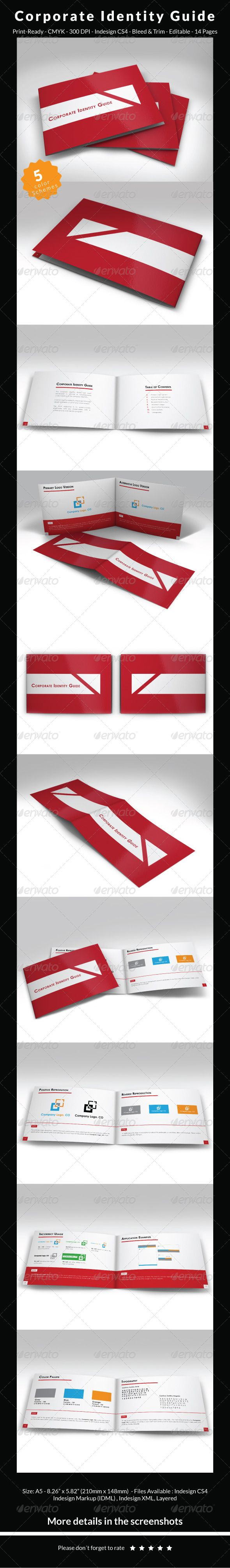 Guide Templates Corporate Identity Guide Template  Pinterest  Corporate Identity .