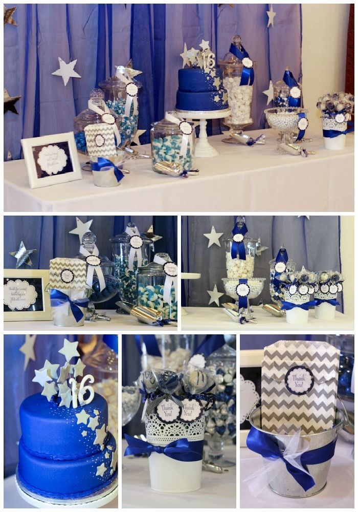 Sweet 16 party dessert table 16th birthday ideas for 16th birthday decoration ideas
