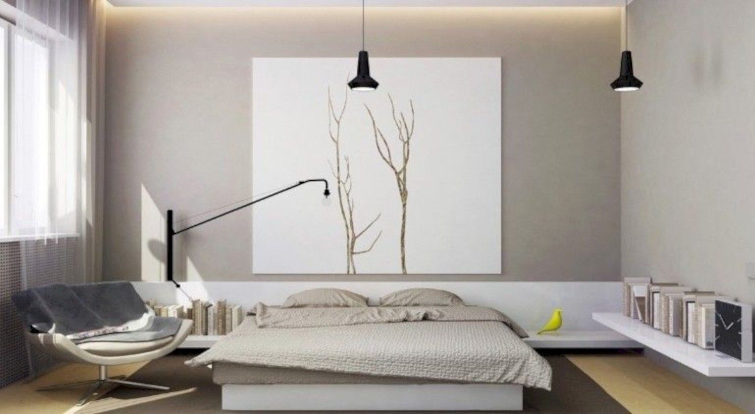 Minimalist master bedroom decoration ideas 43 | Minimal ...
