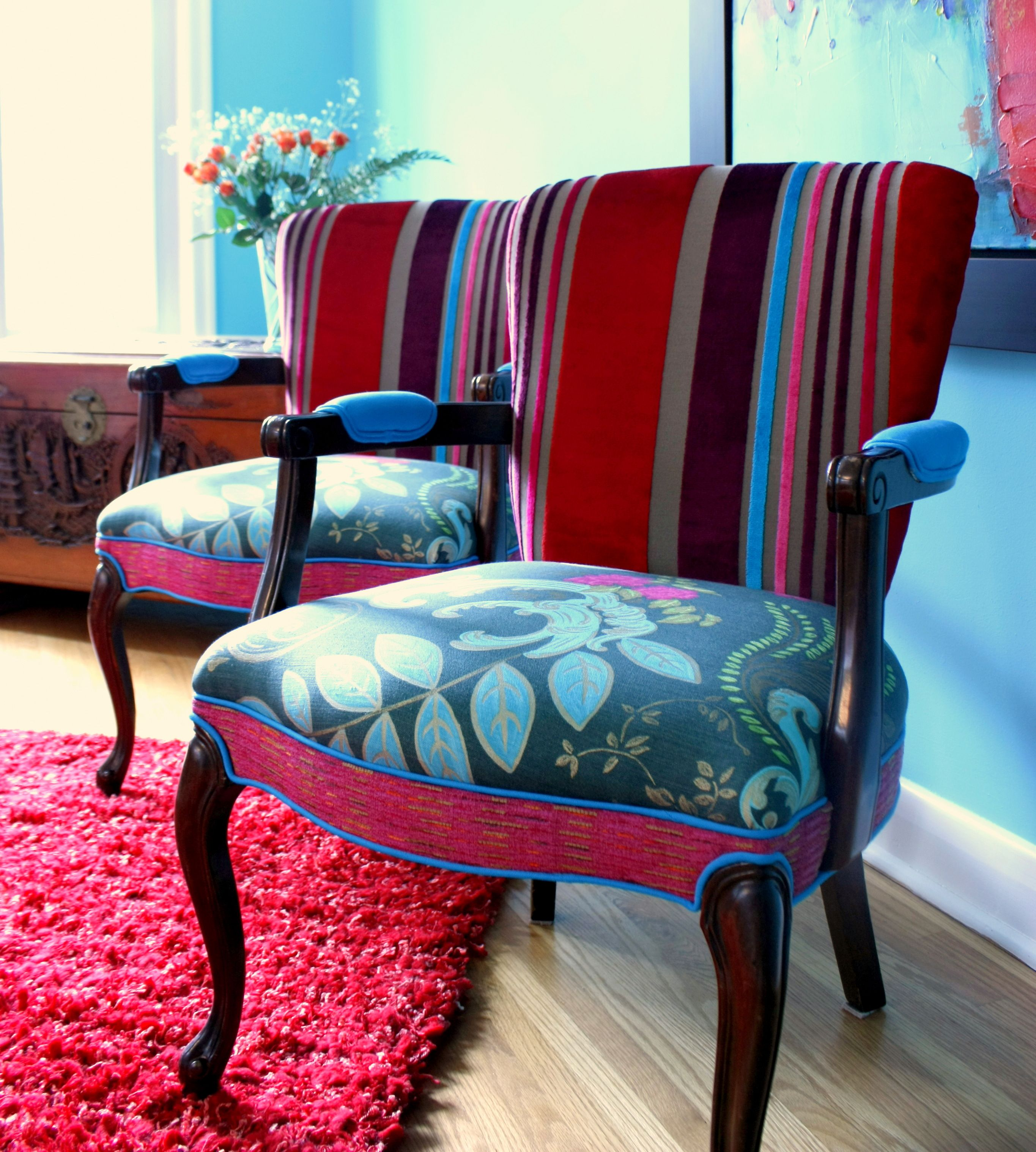 Vintage chairs from Jane Hall Design
