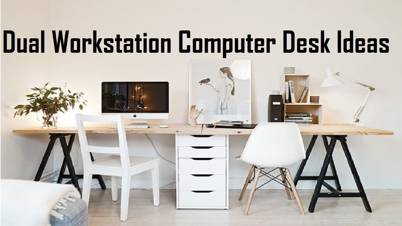 Dual Workstation Computer Desk Ideas Two Person Computer Desk