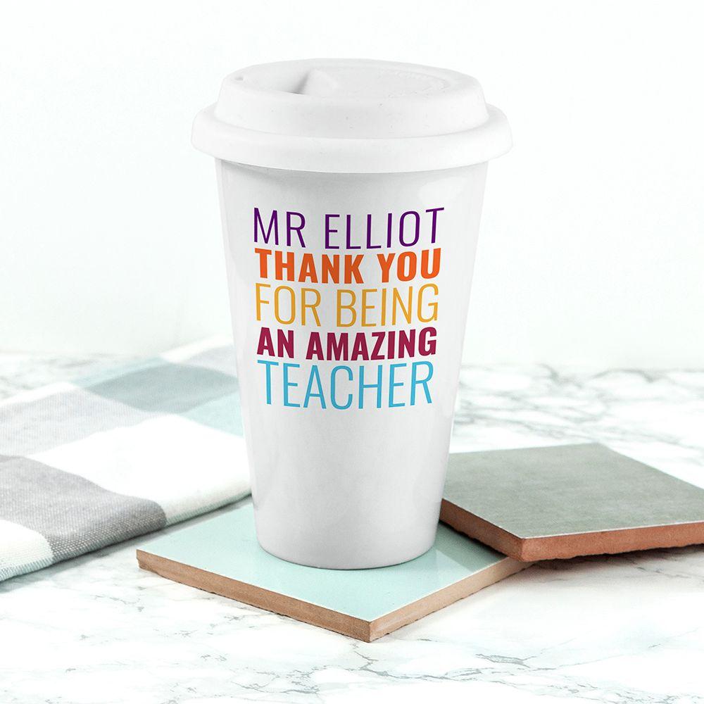 personalised amazing teacher ceramic