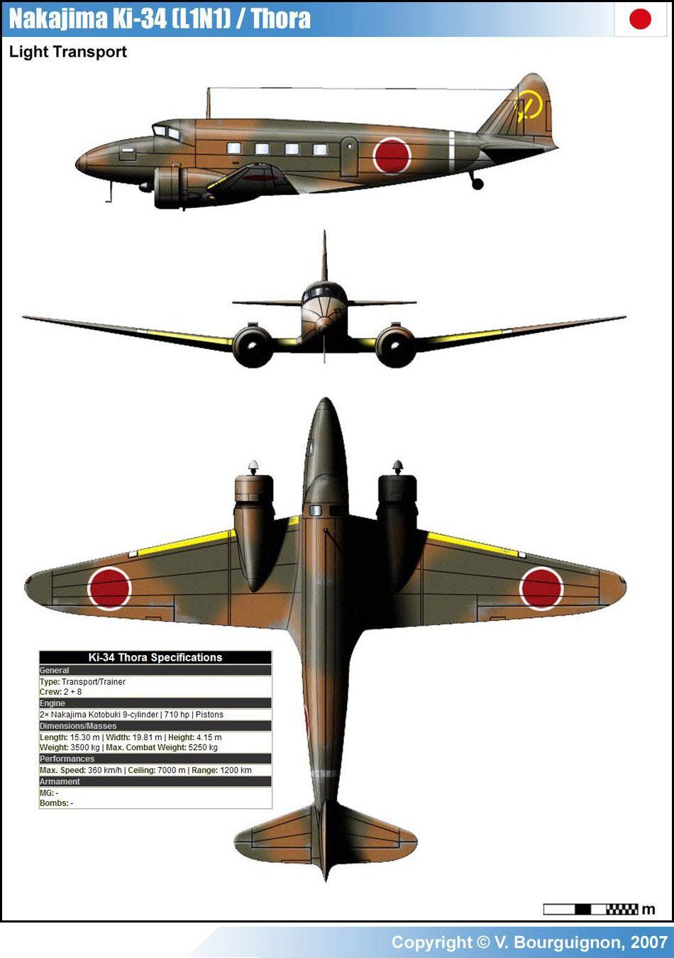 Nakajima Ki-34 was a Japanese light transport aircraft of World War