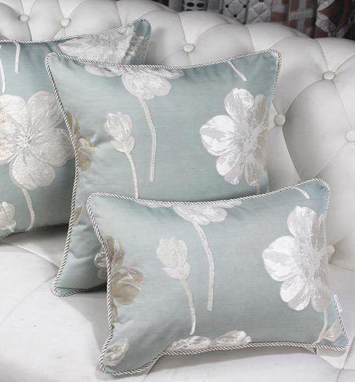 Free ShippingOriental Vintage Blue Flower Decorative Throw Pillow Adorable Oriental Decorative Pillows