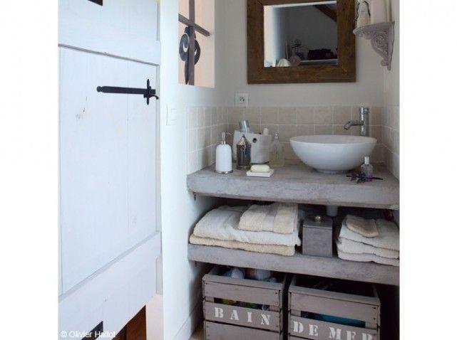 Caisses de rangement recup rangements salle d eau