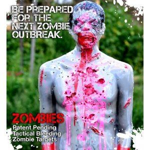 $79.95 Zombie Industries Tactical Lifesize Bleeding #Zombie Target Chris Airsoft Handgun Rifle Pistol Range Shooting Target for #ZombieApocalypse Survival