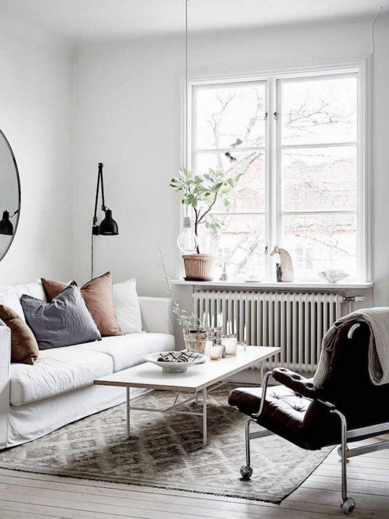 35 Beautiful Scandinavian Aesthetic Vintage Living Room De