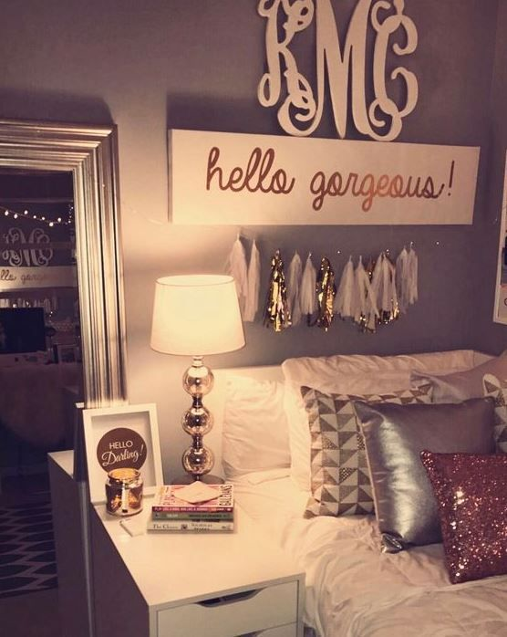 College Apartment Ideas For Girls this is one of the cutest dorm room ideas for girls! | diy ideas
