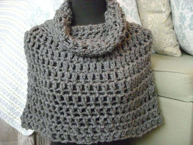Crochet Poncho Pattern Instant Download PDF Bennington Capelet Cowl ...