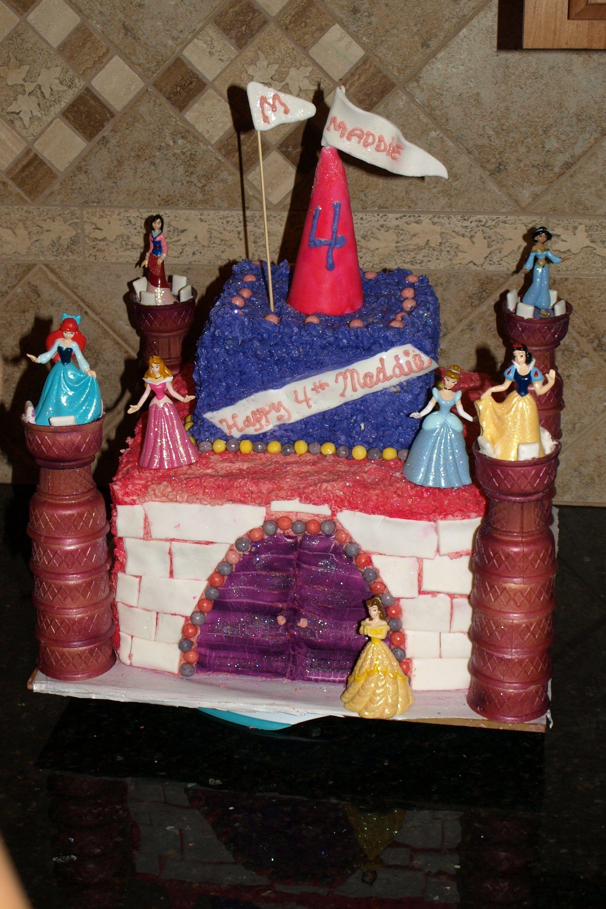 Carol Made Maddie Cinderellas Castle Birthday Cake Awsome