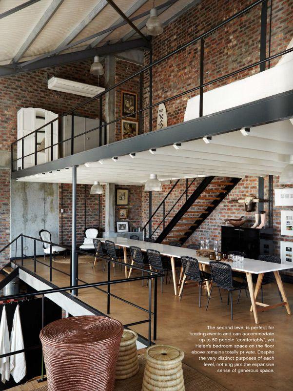 Le loft sur trois niveaux d'Hellen Gibbs à Cap Town industrial decor