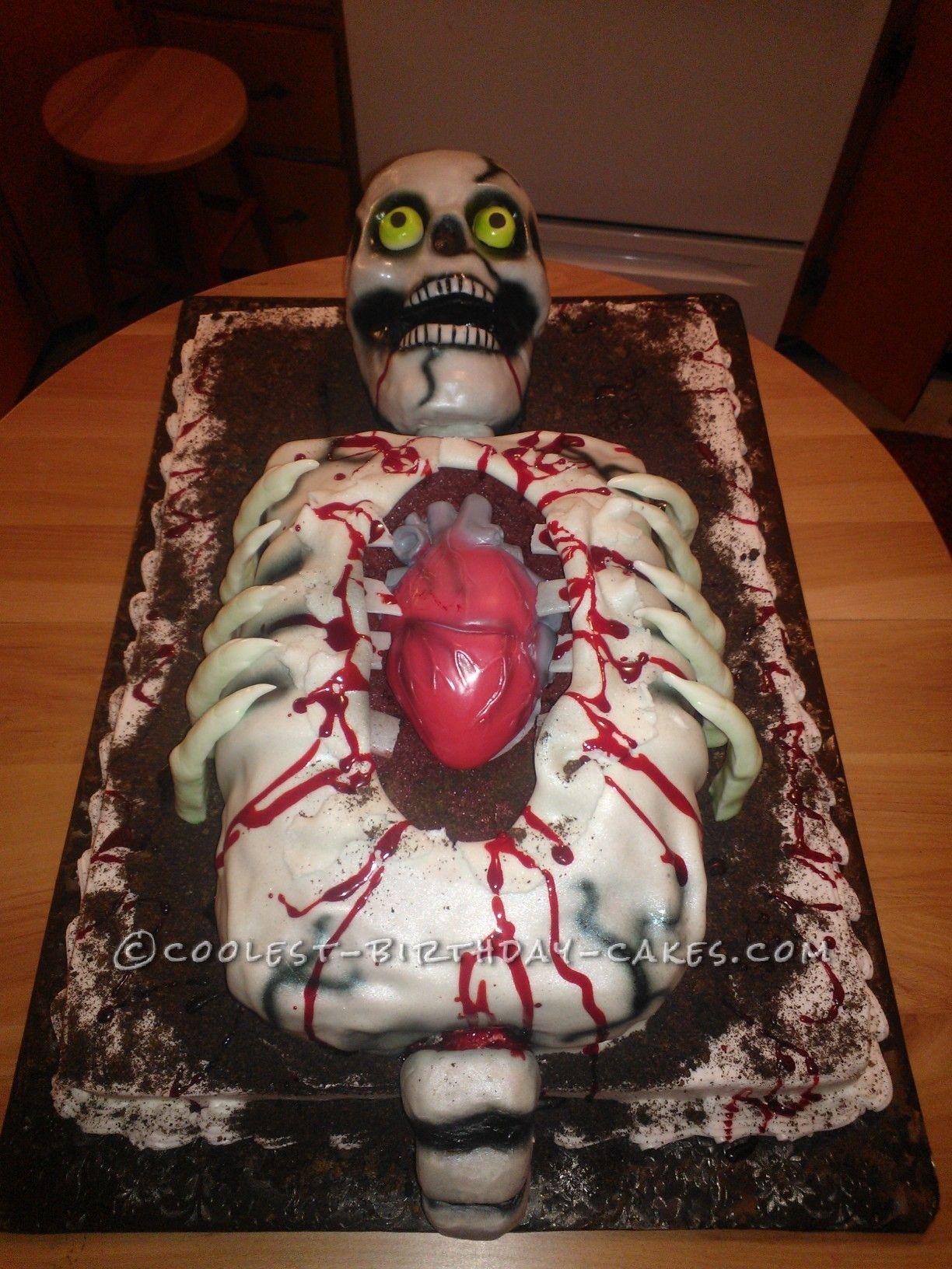Surprising Cool Skeleton Cake Cool Birthday Cakes Halloween Cakes Cake Personalised Birthday Cards Arneslily Jamesorg